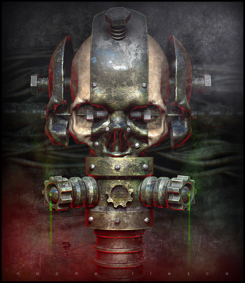 Toxic Skull by nachoriesco