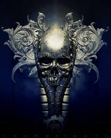 Blue Skull by nachoriesco