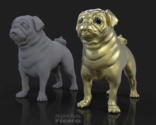 Pug by nachoriesco