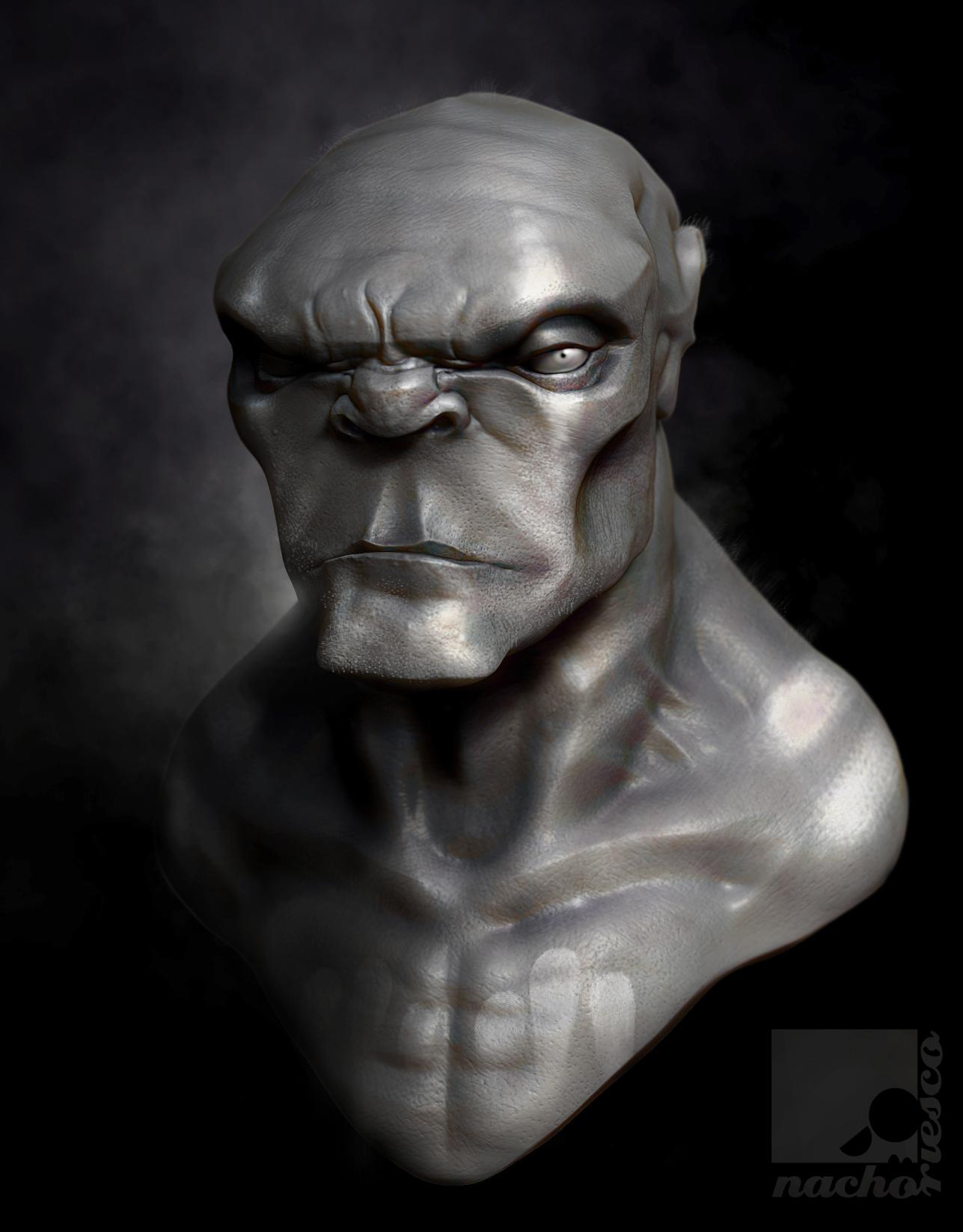 Ogre Bust by nachoriesco