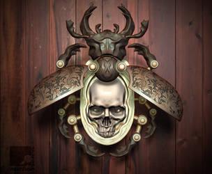 Beetle Skull Pendant by nachoriesco