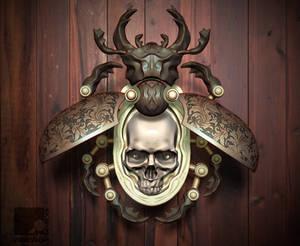 Beetle Skull Pendant