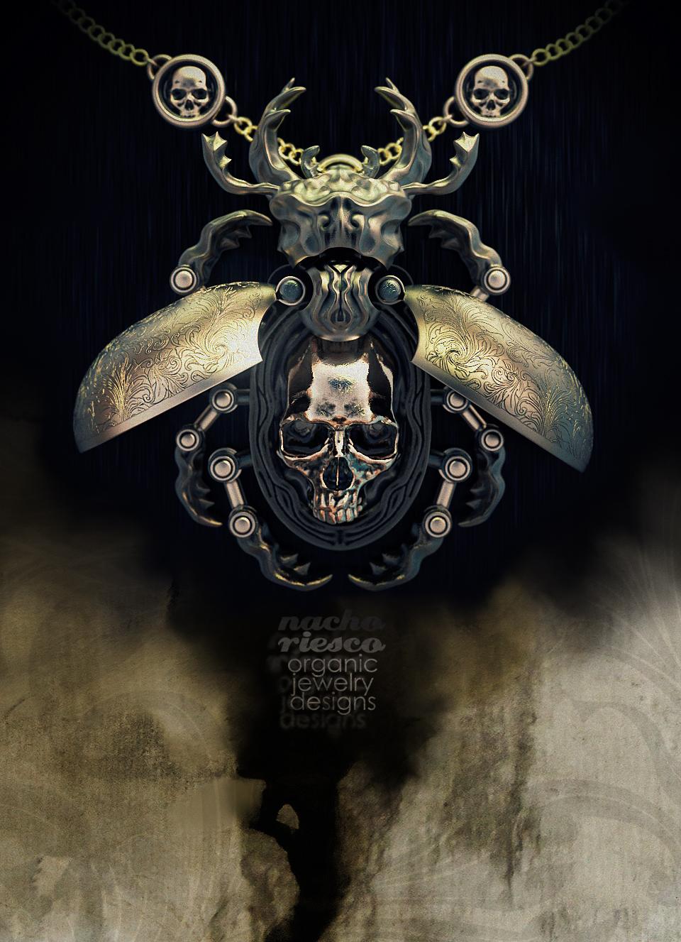 Bettle Skull Pendant by nachoriesco