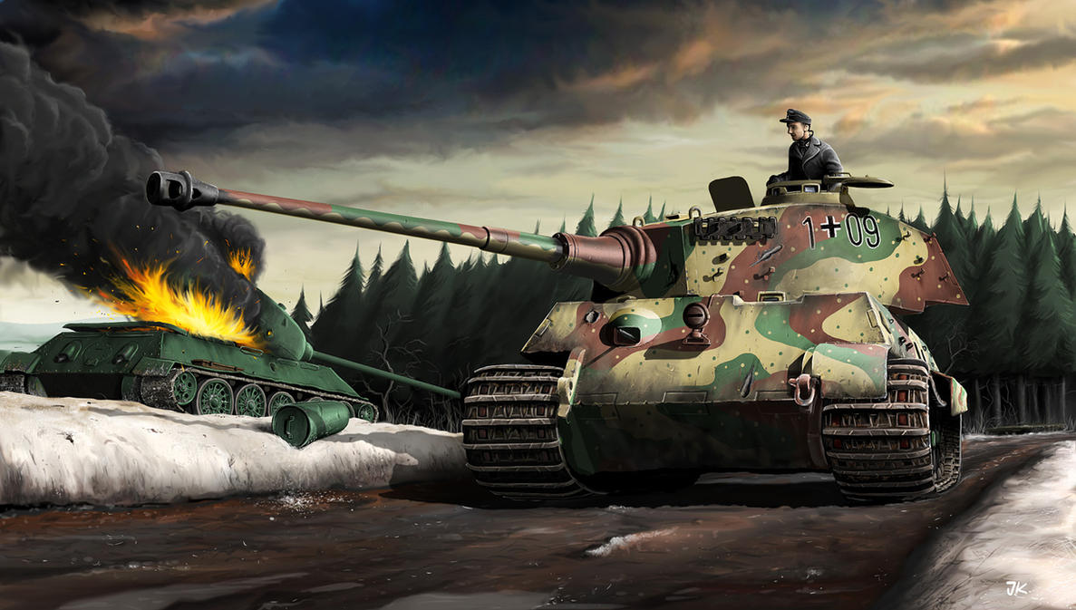 King Tiger tank by JanKlimecky