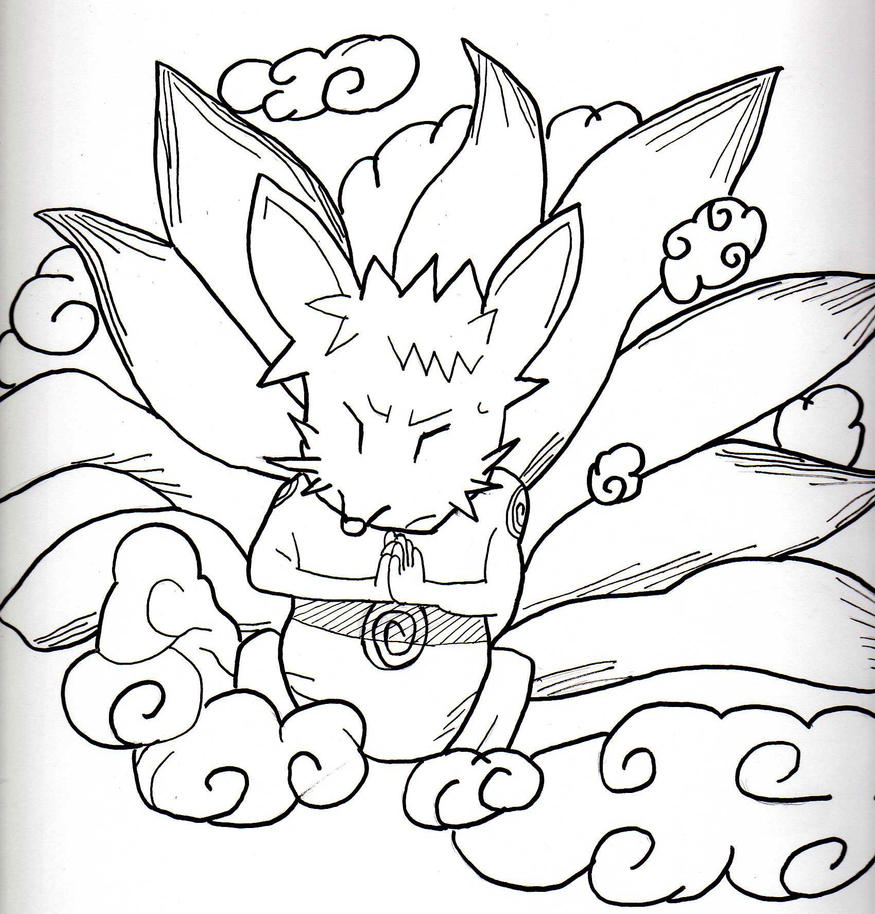 Cute Nine Tail Naruto By DarkHelmet918 On DeviantART