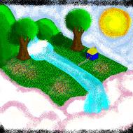 Little tiny pixel garden by AzulKitty