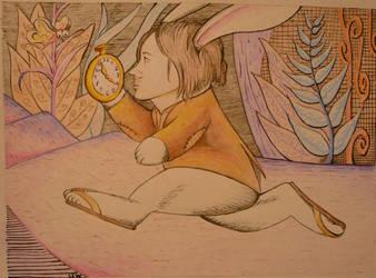 Nate Ruess as The White Rabbit by blackangel7