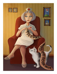 Knitting Nurse by TinyPilot