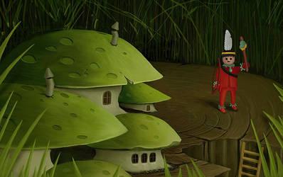 Intruder in Mushroom Village
