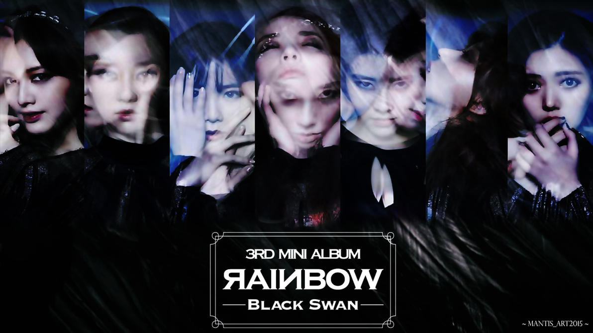 Image result for Rainbow Black Swan