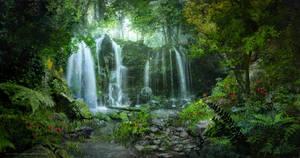 Waterfalls [Environment Drawing]