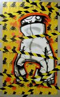 yellow caution by antz81