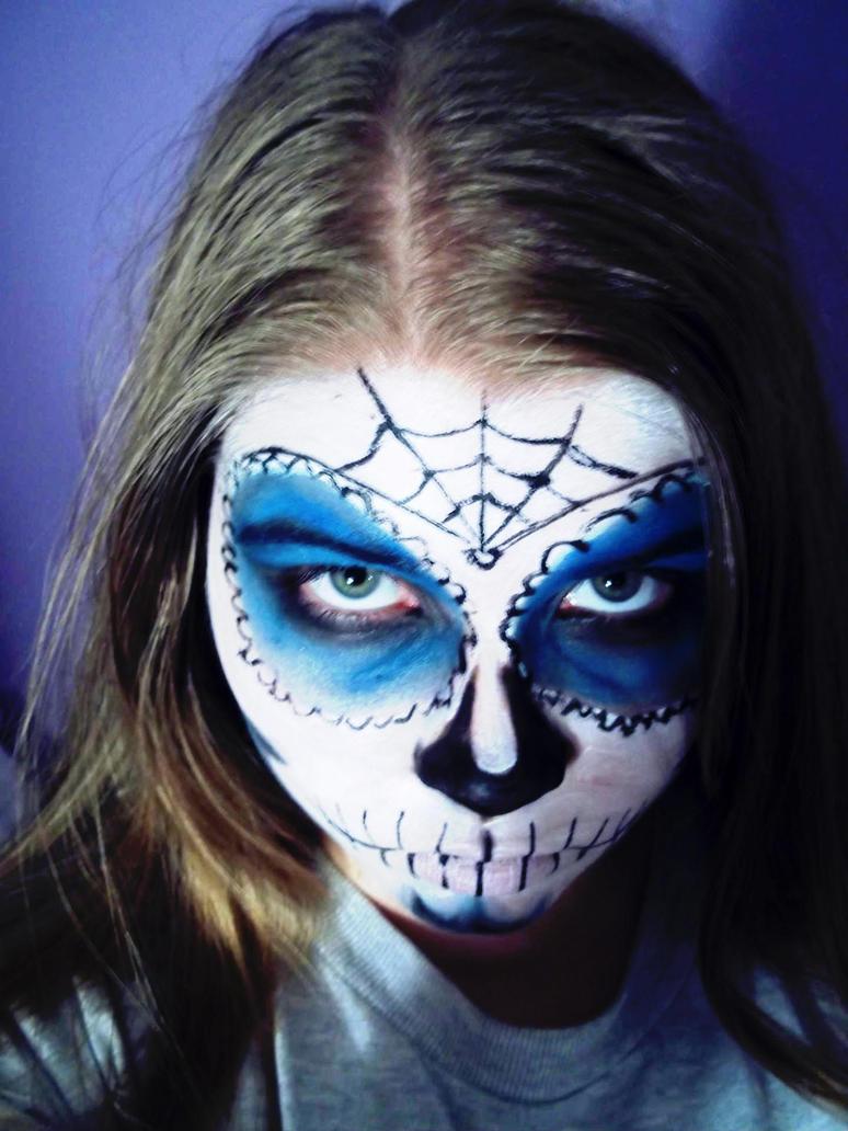 Sugar Skull Blue by TheSterlingDragon