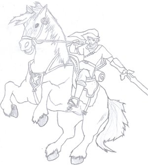 Link and Epona by DeeryMe by Epona-Club