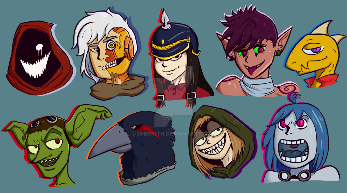 DnD - Character Icons by Dhemuth