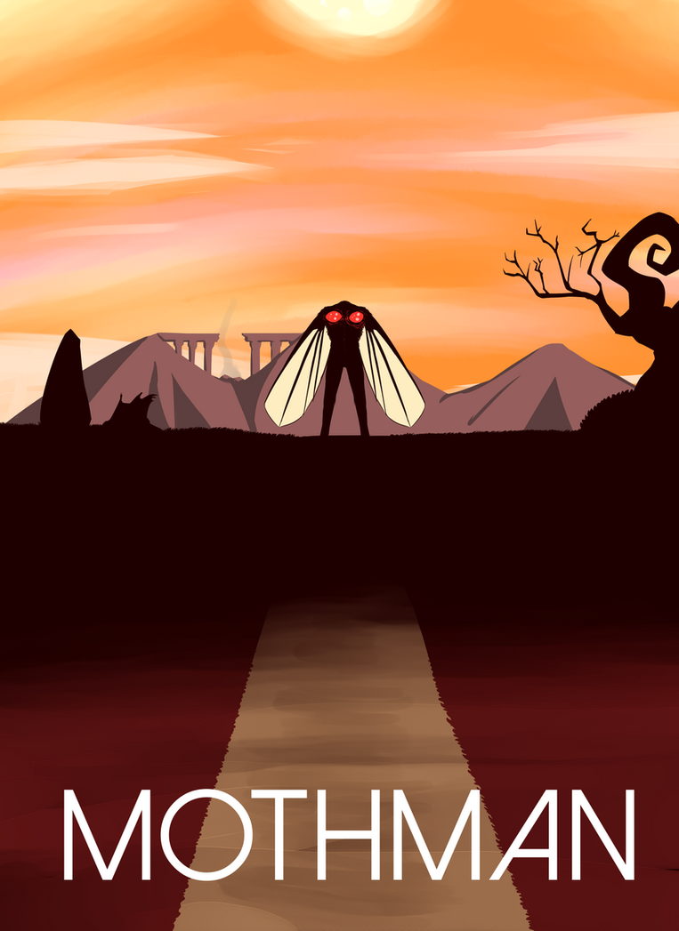 Mothman Poster by Dhemuth