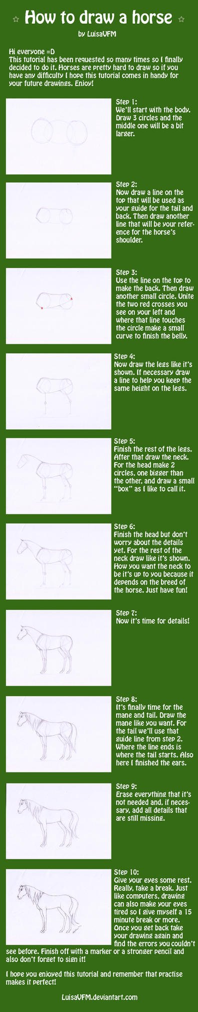 Tutorial: How to draw a horse by LuisaVFM