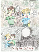 Toby and Pewdie hide from Slendy by Snapes-Girl-Kat
