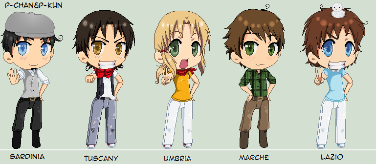 C. Italy's Regions by P-ChanAndP-Kun