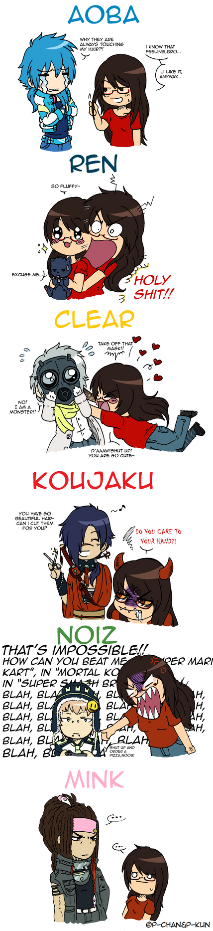What if DMMD characters [...] - Better and colored by P-ChanAndP-Kun