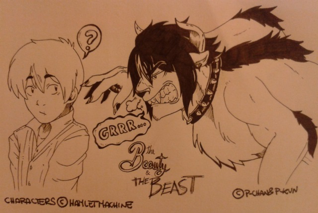 Boredom' Sketches- The Beauty and the Beast (SF) by P-ChanAndP-Kun