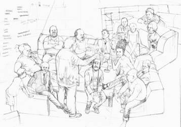 Story Conference pencils by Soposoposopo