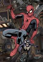 Spider-Man, Venom and Doc Ock II by Soposoposopo