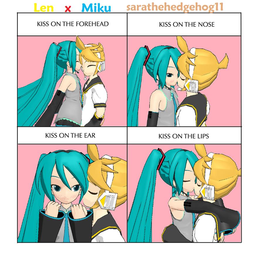 Len x Miku- Kissing Meme by sarathehedgehog11 on DeviantArt  Len x Miku- Kis...