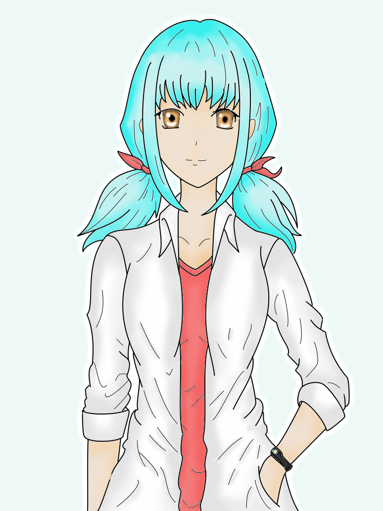 Anime Girl by DemonFoxShiro