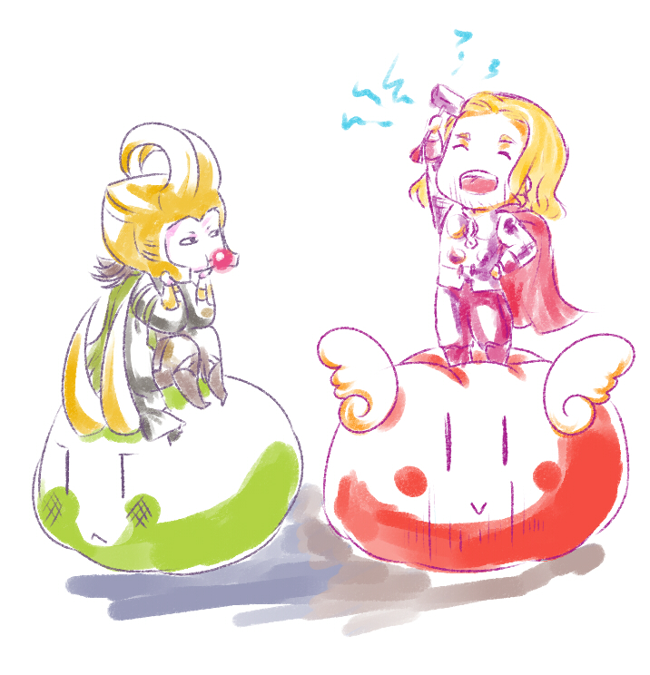 Dango Thor and Loki by MicoSol