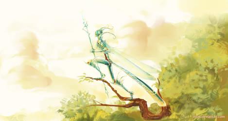 Dragonfly knight by grimzzi