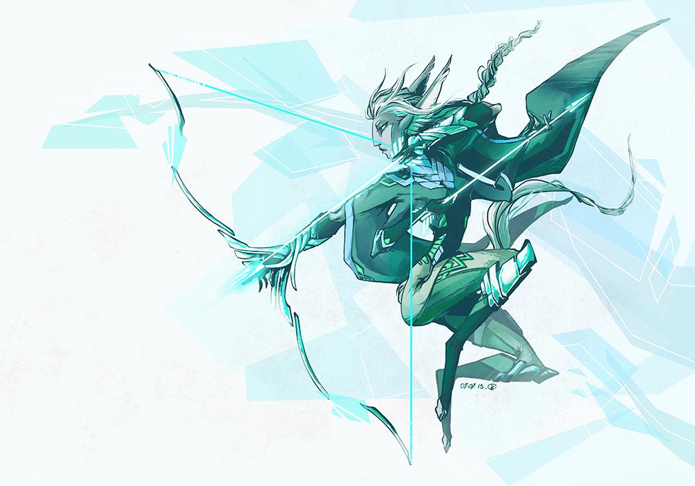 Mint archer by grimzzi