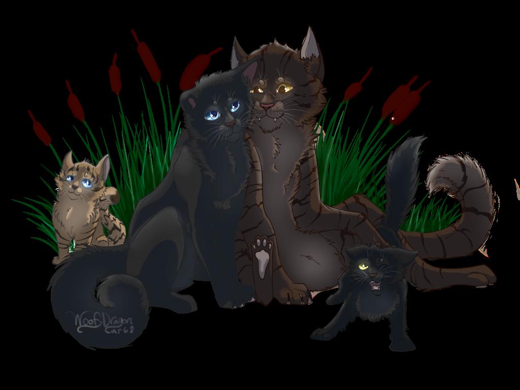 Riverclan Family by WoofyDragoncat68