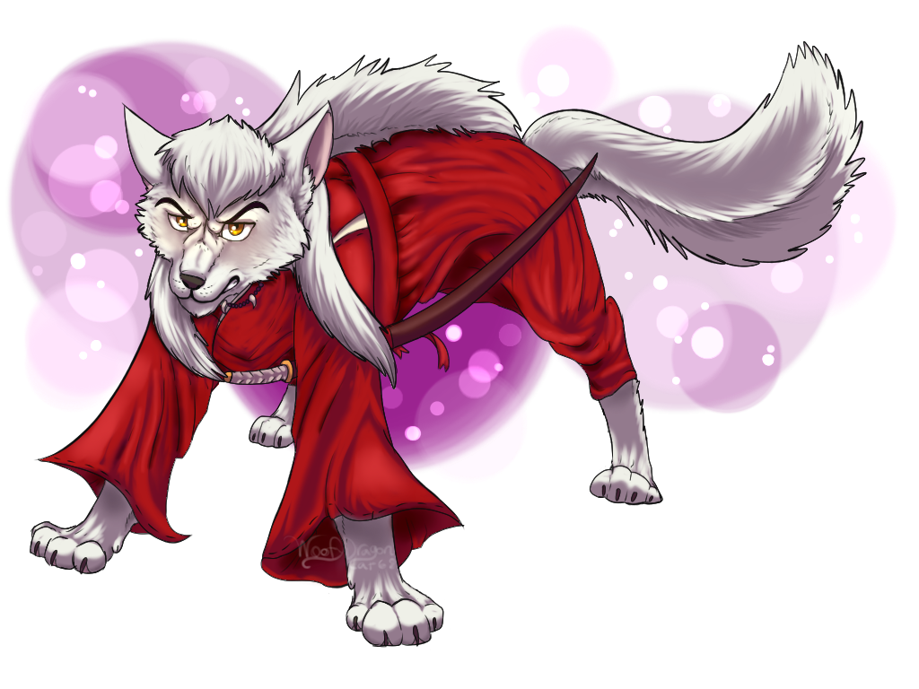 Inuyasha Inuyasha As A Wolf By Woofydragon On Deviantart
