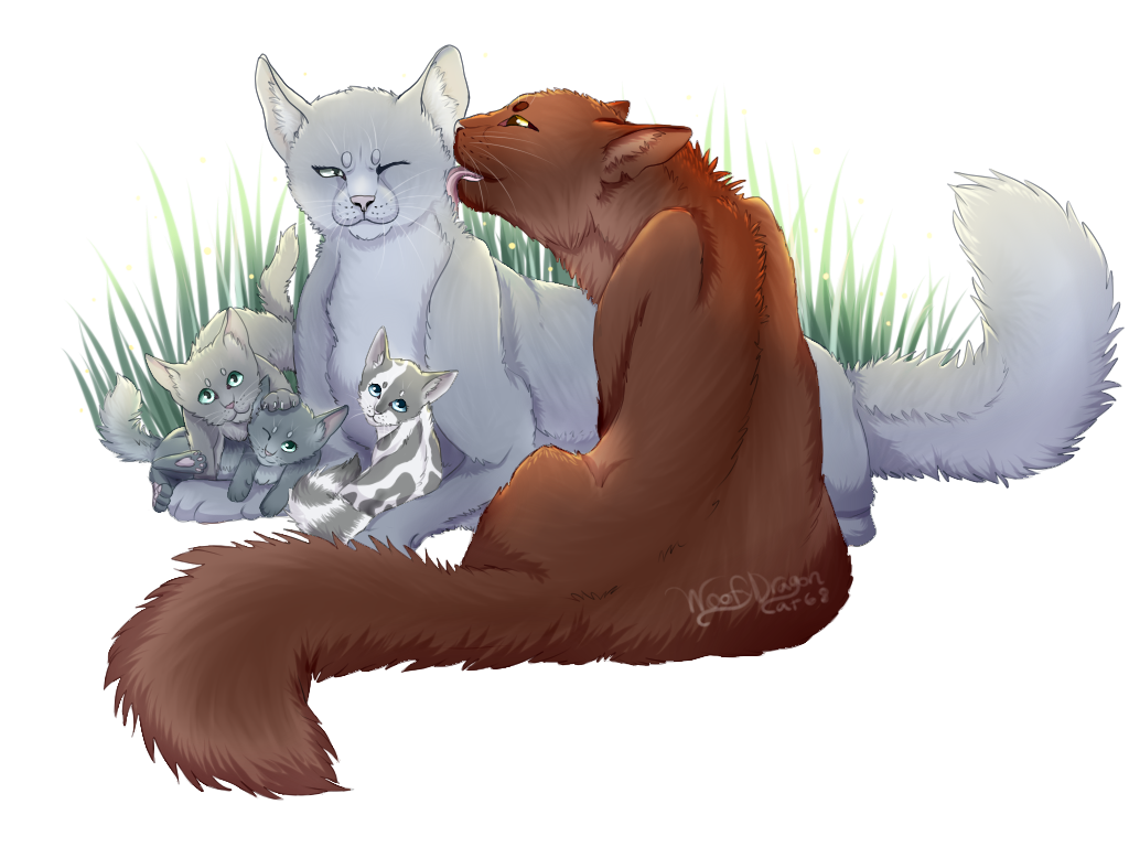 bluestar x oakheart by woofydragoncat68 on deviantart
