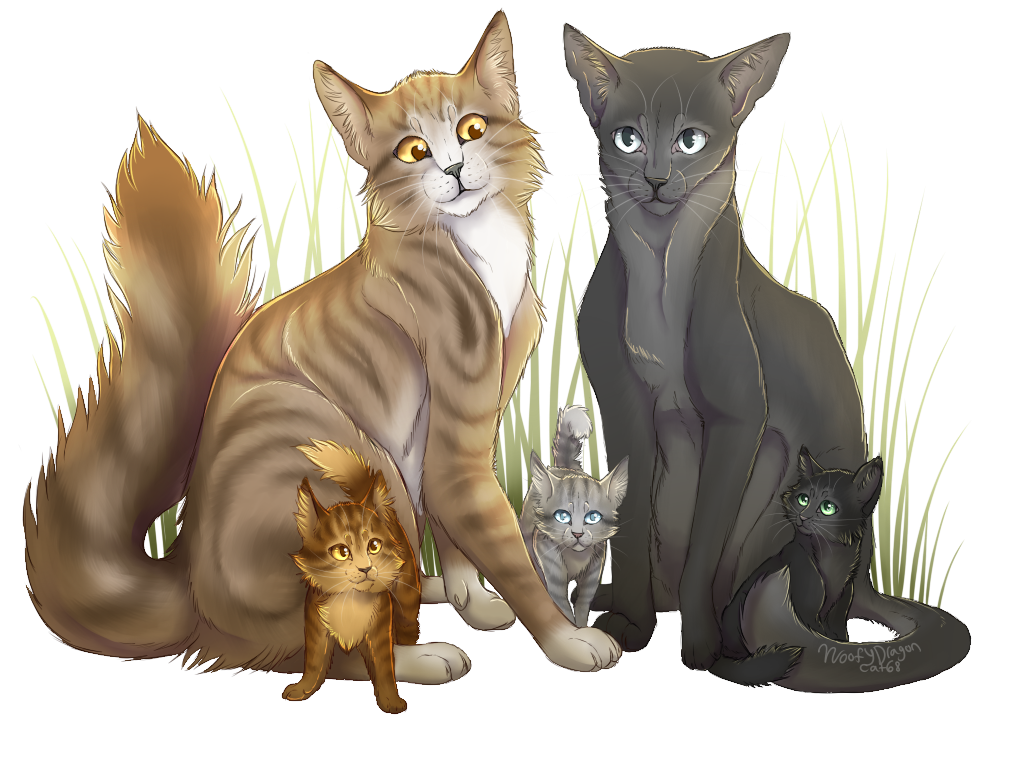 Warrior Cats Blossomkit Leafpool X Crow...