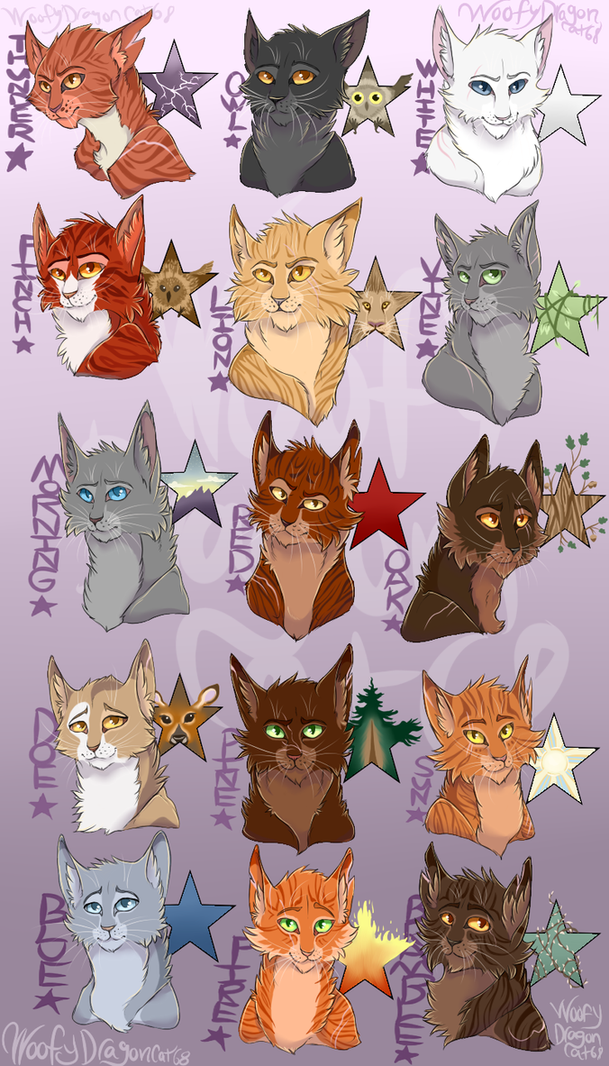 leaders of thunderclan by woofydragoncat68 on deviantart