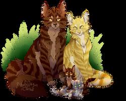 Tigerclaw X Goldenflower by WoofyDragon