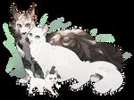 Thistleclaw X Snowfur by WoofyDragon