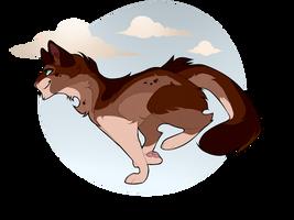 Sprucecloud the Warrior by WoofyDragon