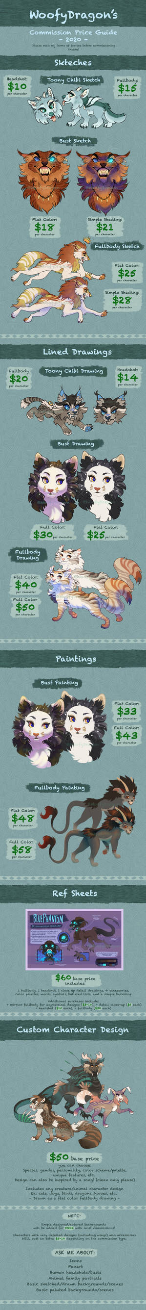WoofyDragon's Commission Price Guide