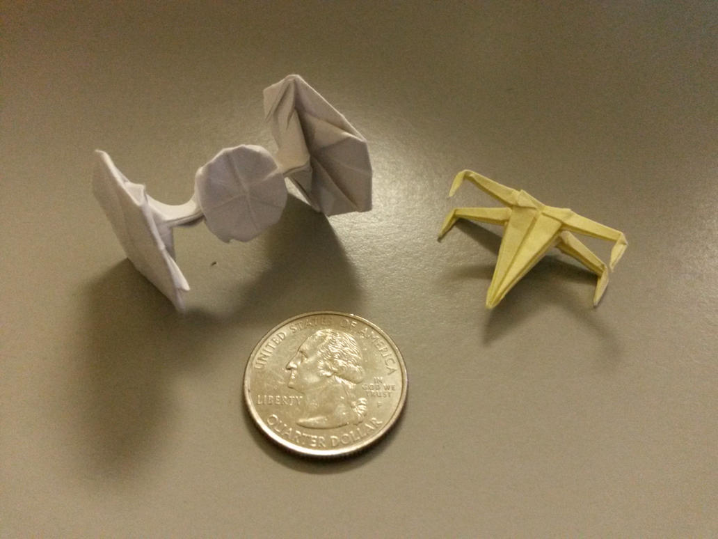 Origami TIE Fighter by Deathonater