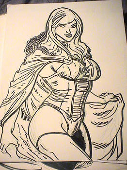 lunch sketch - Emma Frost quickie