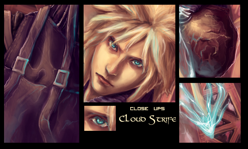 Closeup:Cloud Strife by vtas
