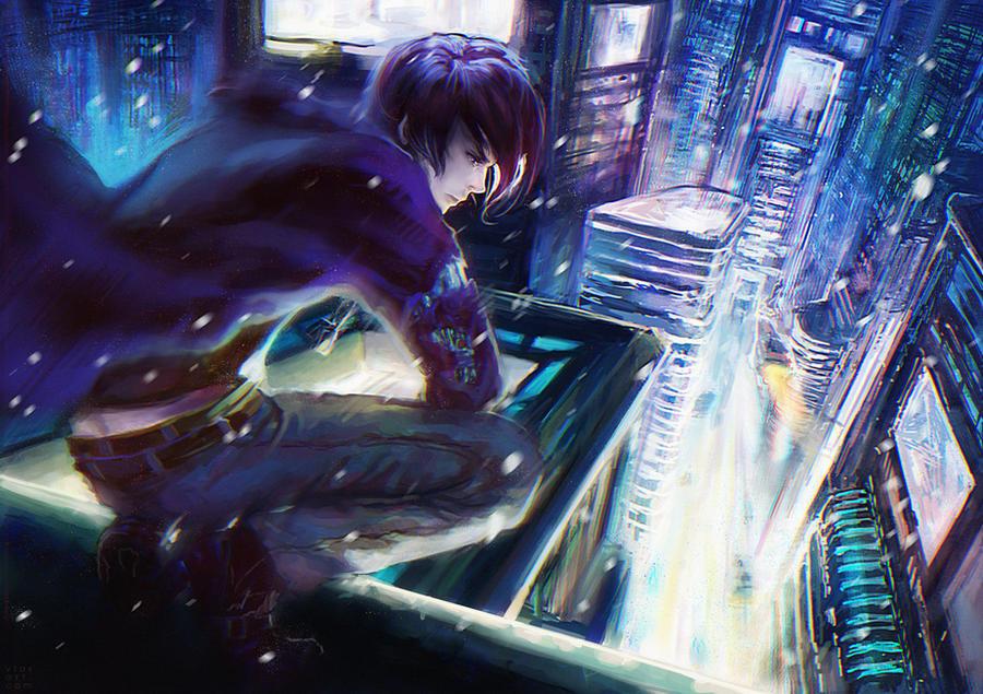 Девушка на крыше аниме