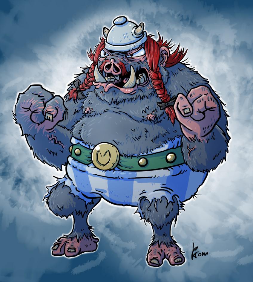 Obelix Sanglier-garou by jptom