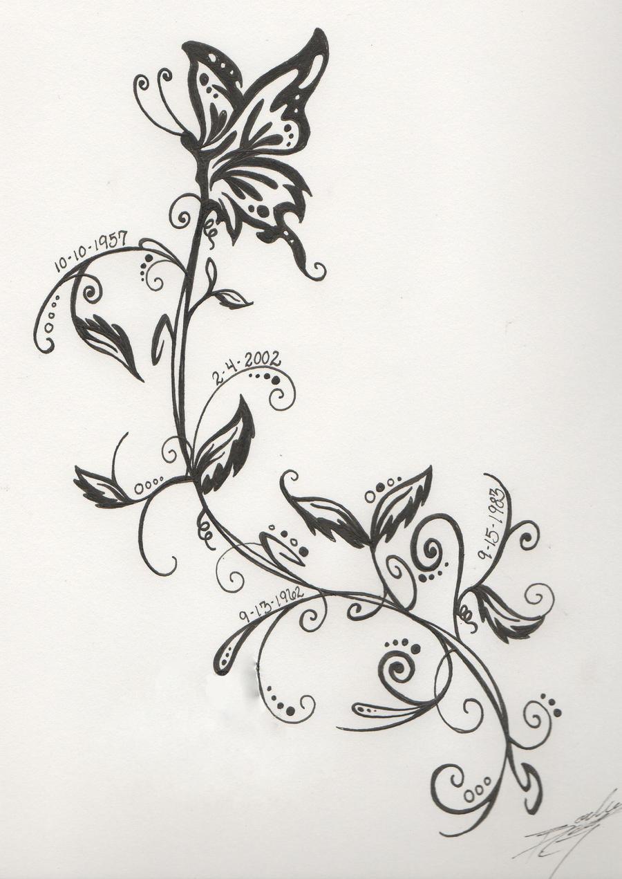 family date tattoo design by wafflemistress on deviantart. Black Bedroom Furniture Sets. Home Design Ideas