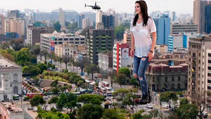 Giantess Lana Del Rey in LIma