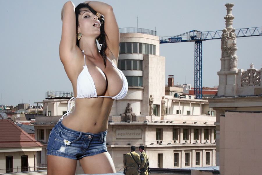 Denise Milani Is A Sexy Giantess Now By Markawassi On Deviantart