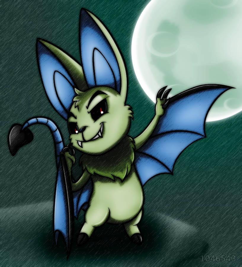 Neopets - Kaelz, my mutant Korbat by 1046543